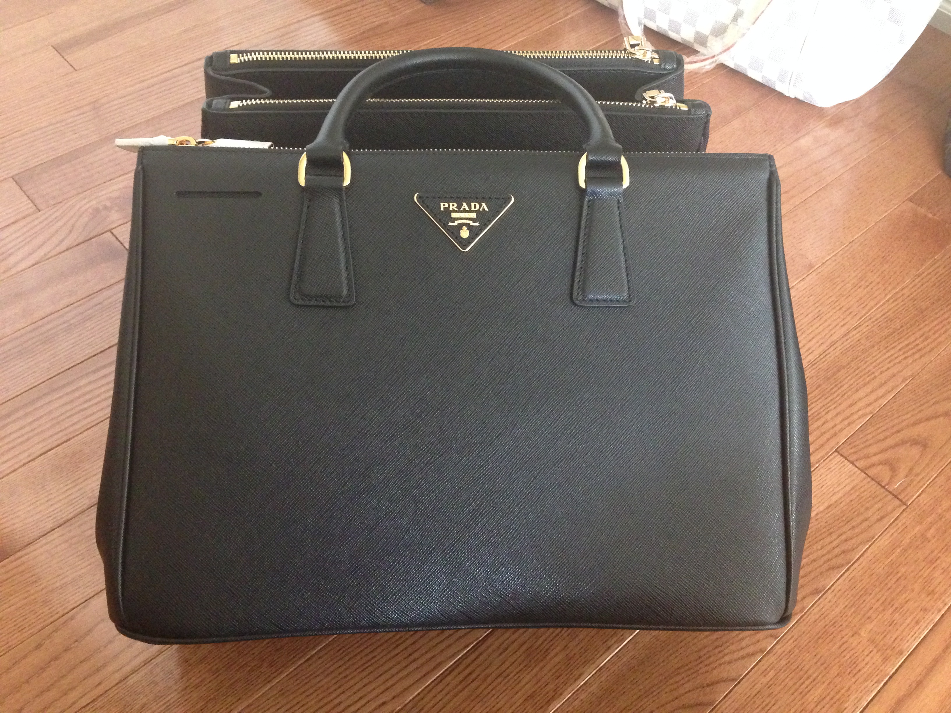 b76f63c73d9e best prada mirage leather shoulder bag d29de aea6e  store authentic prada  saffiano black doublezip tote gold hardware 07234 93e12