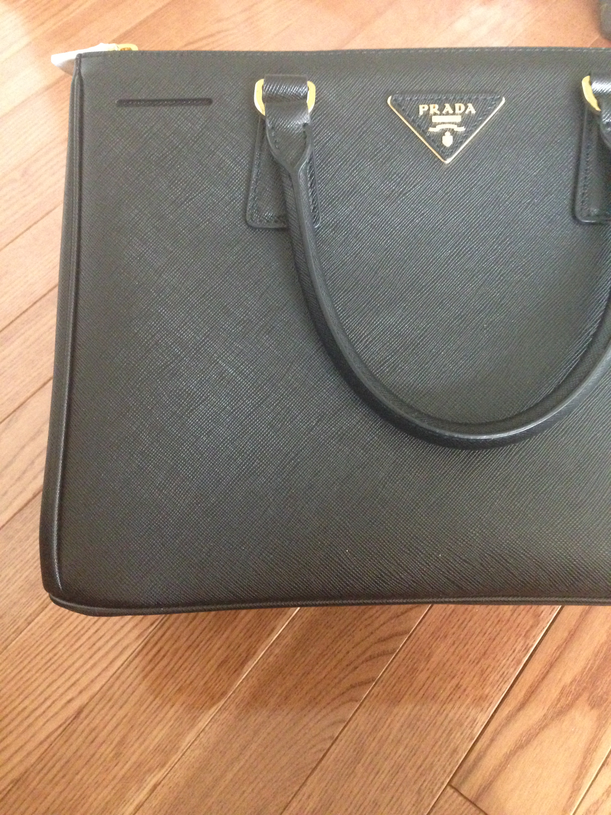 27429ddcba92 ... where to buy authentic prada saffiano black doublezip tote a4ffa 09e15