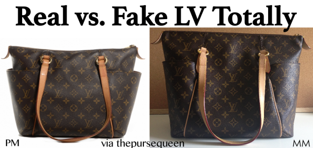 authentic vs replica louis vuitton totally fake vs real lv1