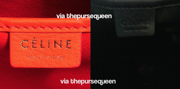 celine bag tag nano fake vs real authentic vs replica