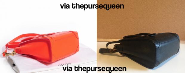 celine nano fake vs real authentic vs replica bottom of bag