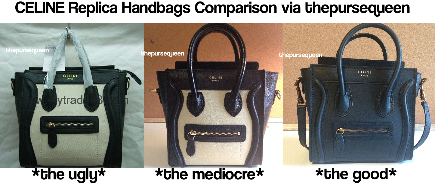 celine luggage mini black leather tote bag - Celine Replica Bags: The Good, the Bad, and the Ugly! �C Authentic ...