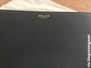 celine trio black leather grain