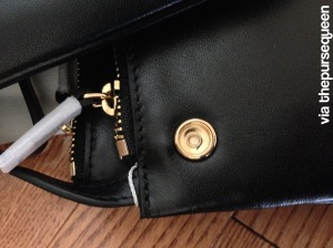 celine trio snap closure gold black leather authentic replica