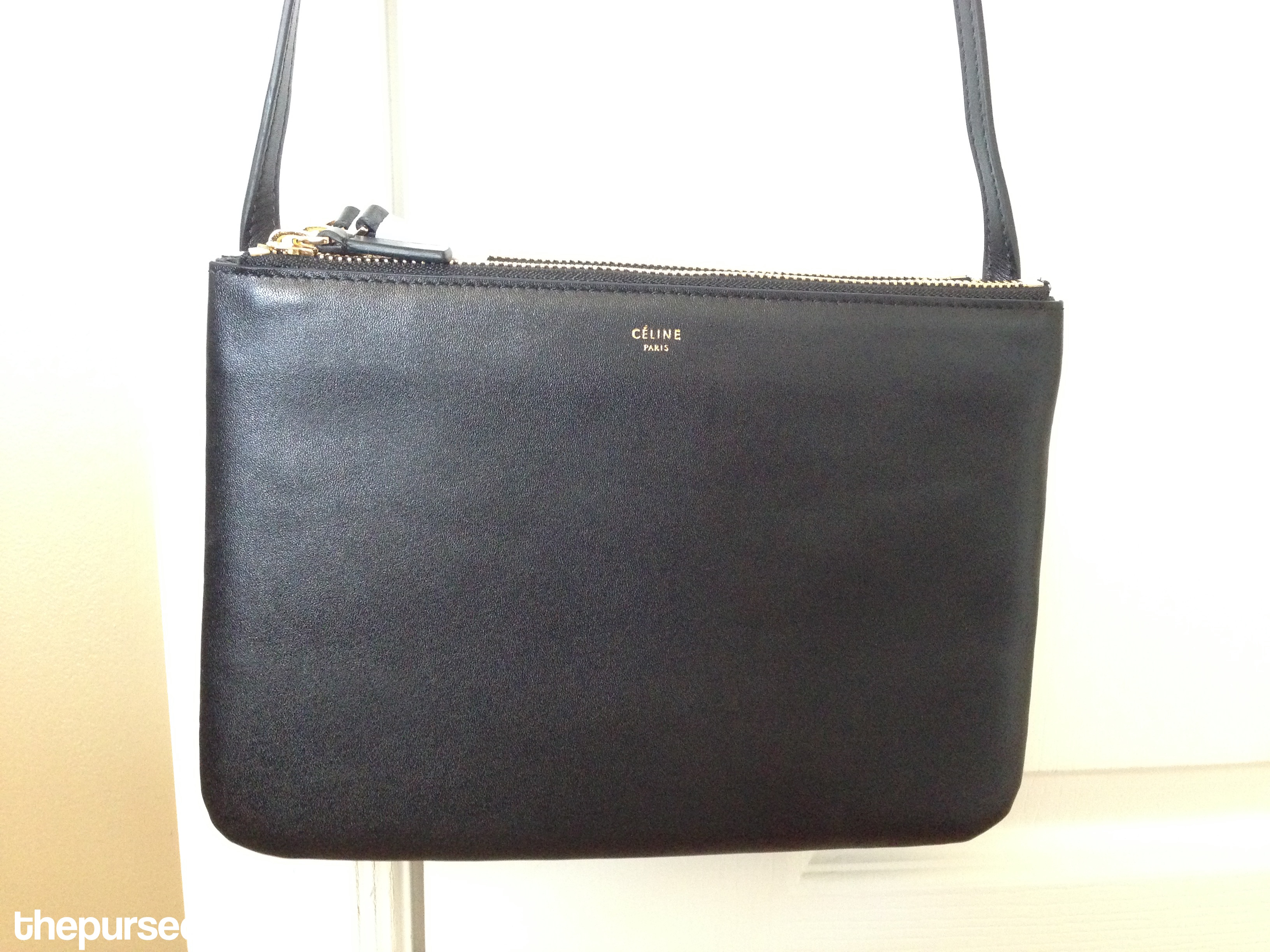 celine wallets - Celine Trio Replica Crossbody in Black Review �C Authentic ...