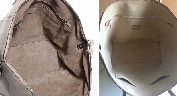fake vs real LOUIS VUITTON Veau Cachemire Soft Lockit MM inside the bag
