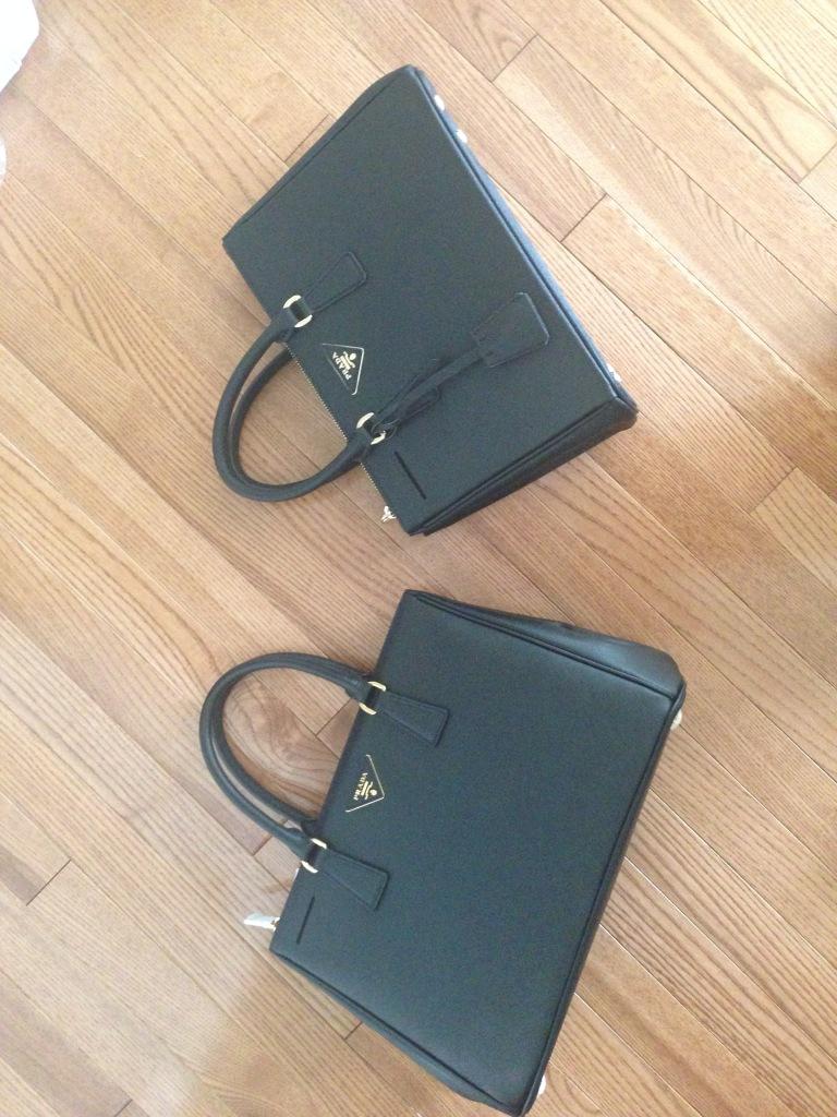 prada saffiano black doublezip tote replica authentic vs fake