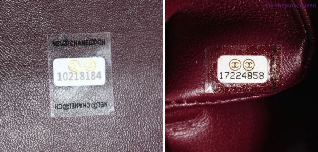 chanel real vs fake replica vs authentic guide hologram sticker jumbo 7