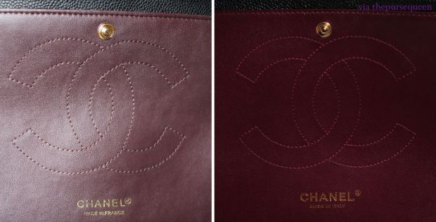 chanel real vs fake replica vs authentic guide interior flap leather 6