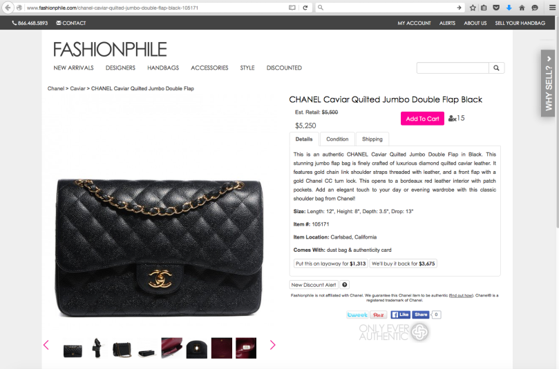 fashionophile ad chanel jumbo black double flap