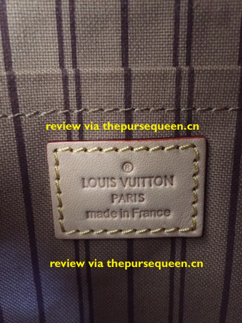 LOUIS VUITTON NEW NEVERFULL AUTHENTIC REPLICA TAG