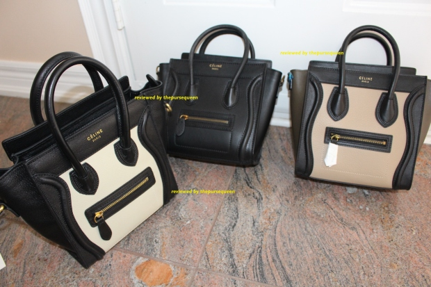 celine luggage bag collection black tricolor nano authentic replica