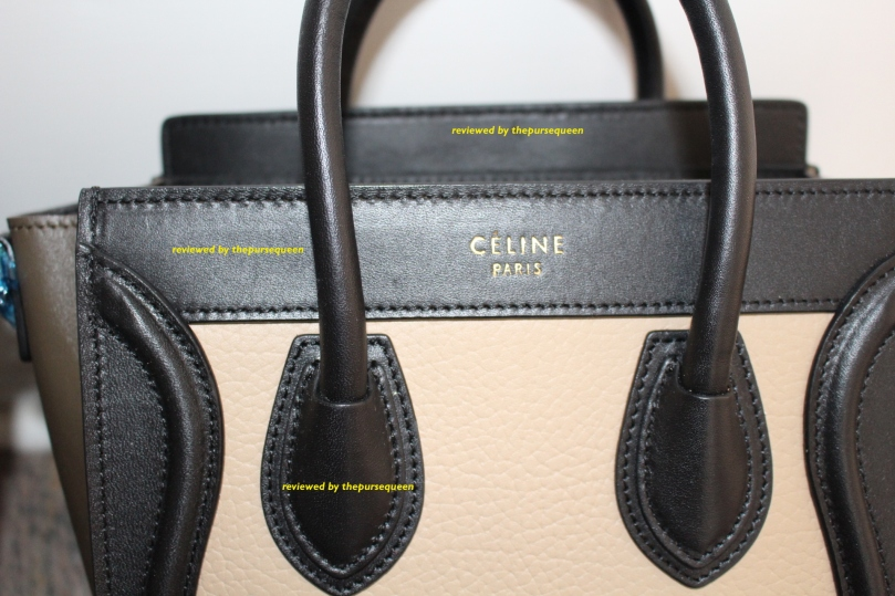 tricolor celine nano luggage bag