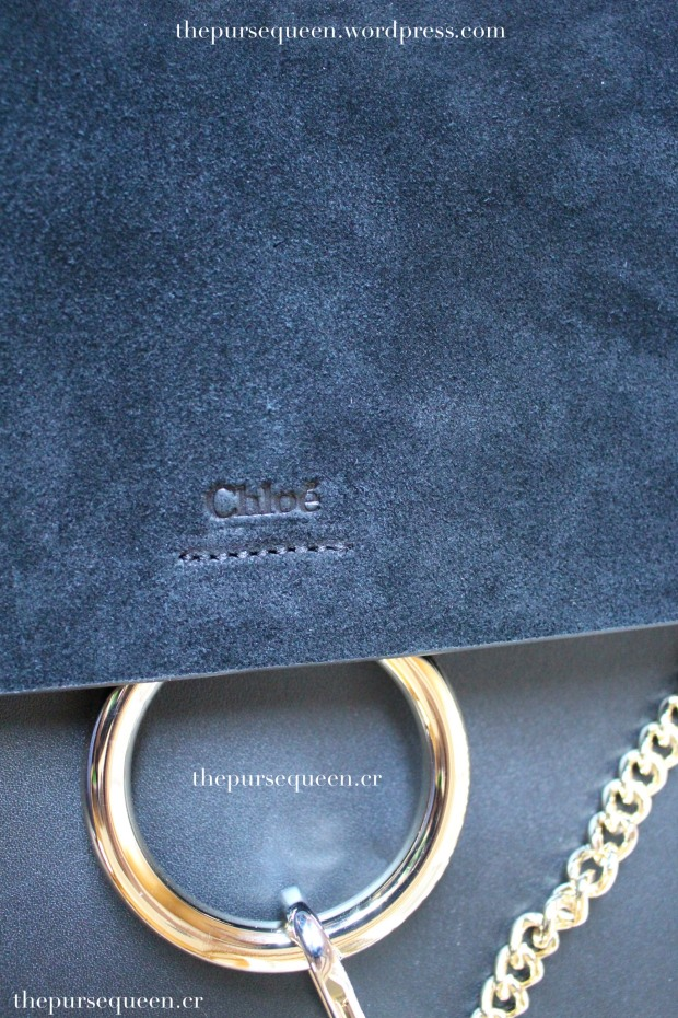 chloe faye bag replica authentic review closeup suede logo stamp