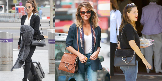 chloe faye bag worn by celebrities montage