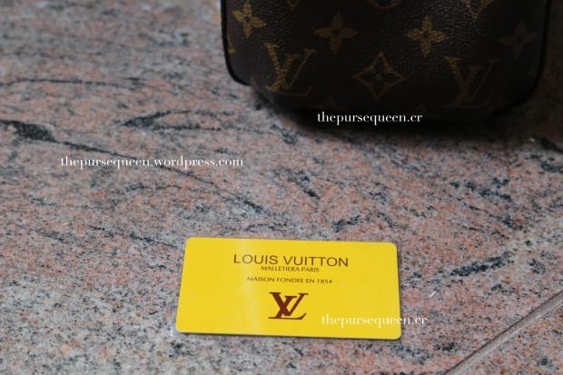 louis vuitton montaigne replica #replicabag #replicabags authentication card