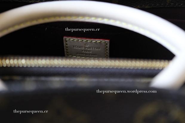 louis vuitton montaigne replica #replicabag #replicabags handle stitching real vs fake