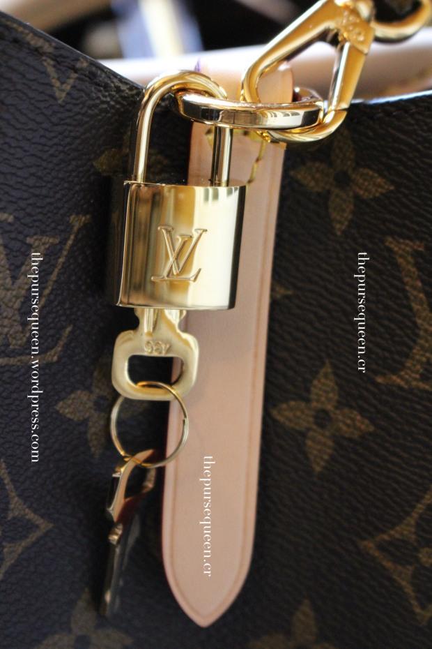 louis vuitton montaigne replica #replicabag #replicabags lock and key