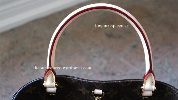 louis vuitton montaigne replica #replicabag #replicabags red coated handles